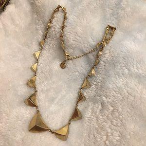 Jewelry - Pyramid geometric gold dainty statement necklace